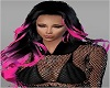 BLack Pink Tips Hair