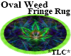 *TLC*OvalWeedFringed Rug
