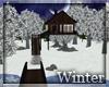Scenic Winter Treehouse