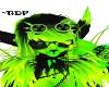 Neon Green Goggles