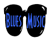 Blues Music sign logo