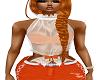 EW:White top/Orange Bra