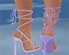 light purple strap shoes
