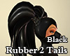 Rubber Double Tail Black