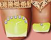 Feet Gold Rings Lime