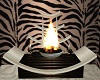 zebra fire decor