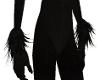 black wolf wrist fur