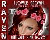 PINK ROSES FLOWER CROWN!