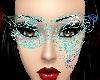 )Aqua snowflake Mask(