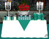 Guests Favor Table Teal