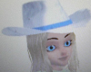 Cowgirl Hat w/blond Hair