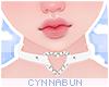 🌠 Heart Choker White