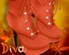 {D}-Fall Boots Pumpkin