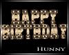 H. Happy Birthday Gold