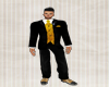 Black & Gold Full Suit
