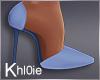 K blue patched heels