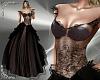 T- Cinderella Gown black