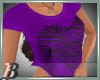 Cropped heart - Purple