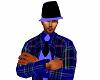 Blue&Blk Trilby Hat