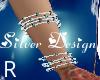 SW Xmas Silv Bracelet R