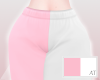 AT Pink & White Joggers