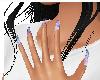 Purple Swirl Nails