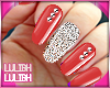 LL** Glam Nails Red