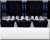 Blue Crystal Head Table