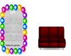 tic tac toe couch red 2