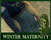 Winter Maternity Blue