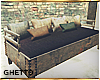 Rustic wood couch
