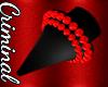 F| Red Spiked Gauges