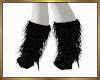 Furry Boots Black