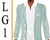 LG1 Green & White Blazer