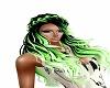 green black hair