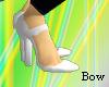 [B] white heel