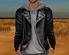 Leather Jacket Hoody (M)