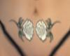 Belly White Roses