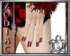 Red Check Nails