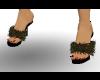 MJs Black Slippers