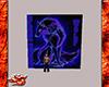 Blue Neon Wolf Rug
