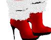 FELIZ RED FUR BOOTS,