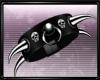 Blk Spike Skull Brace *L