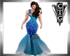 CTG PEACOCK FANTASY GOWN