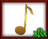 Music Note 1 Gold