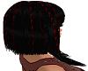 black - red hedda hair