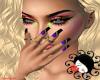 Nails Purple/Black
