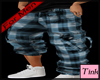 men's plaid pants blue