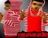[LF] R+W Stripy Hoodie