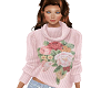 TF* pink floral sweater